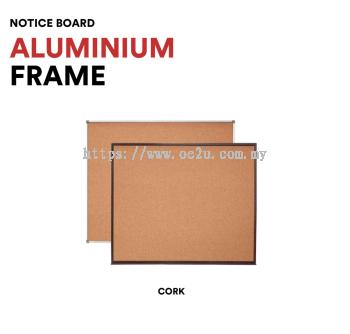 Aluminium Frame Notice Board (Cork Board)