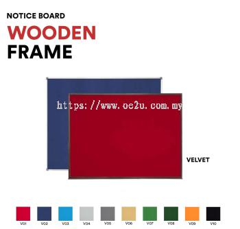 Classic Wooden Frame Notice Board (Velvet Board)
