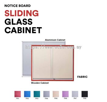 Aluminum Sliding Glass Cabinet Notice Board (Fabric Board)