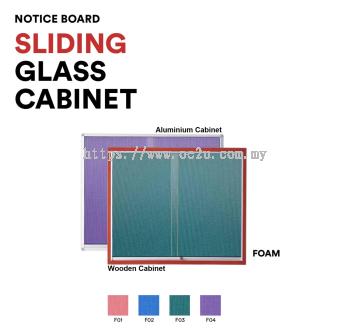 Aluminum Sliding Glass Cabinet Notice Board (Foam Board)