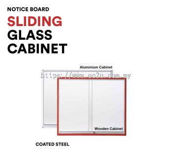 Aluminum Sliding Glass Cabinet Notice Board (Coated Steel Board)