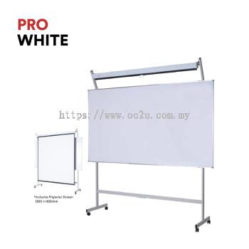 PRO WHITE Projector Screen & Whiteboard (2in1)