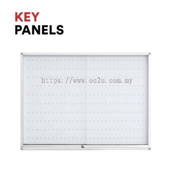 Key Panel c/w Sliding Glass Door Cabinet