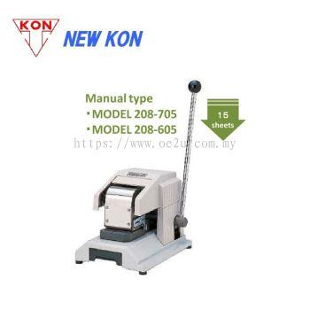 NEW KON 208-705 Manual Perforator (Single Line Fixed Perforation: Custom Logos / Codes / Symbols)