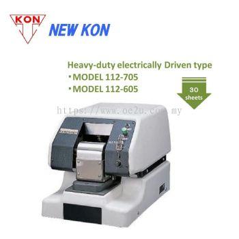 NEW KON 112-605 Heavy Duty Electric Perforator (Single Line Fixed Perforation: Custom Logos / Codes / Symbols)
