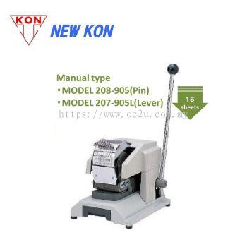 NEW KON 208-905 Manual Pin Perforator (Double Line 8-Digit Perforator: Date / Numbers)