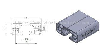 Aluminium Profile 40 x 16