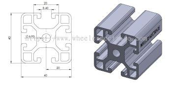 Aluminium Profile 40 x 40