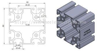 Aluminium Profile 80 x 80