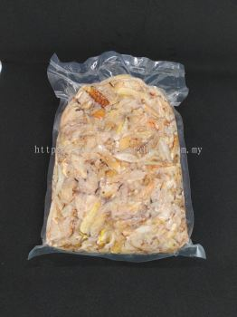 Frozen crab claw meat
