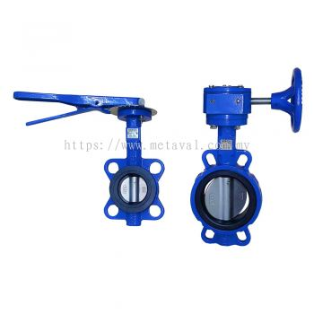 NOREX Cast Iron Butterfly Valve - Gear or Metal Lever
