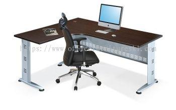 QAMAR L-SHAPE OFFICE TABLE/DESK AQL 1815(L) - Top 10 Most Popular L-Shape Office Table/Desk | L-Shape Office Table/Desk Taman Perindustrian Subang | L-Shape Office Table/Desk Puchong | L-Shape Office Table/Desk AU2 Setiawangsa
