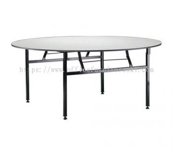4' ROUND BANQUET TABLE / FOLDABLE TABLE- banquet table ampang point | banquet table imbi | banquet table pudu