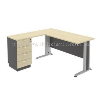 TITUS 5' Writing office table/Desk With Stand Pedestal Drawer Set