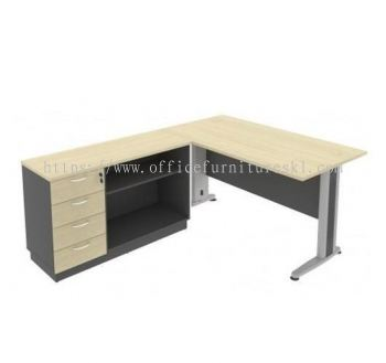 TITUS 5' Writing Office Table c/w Pedestal Drawer Side Cabinet Set