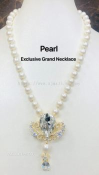 EXCLUSIVE RANGE WHITE PEARL LONG NECKLACE(���������ճ�����