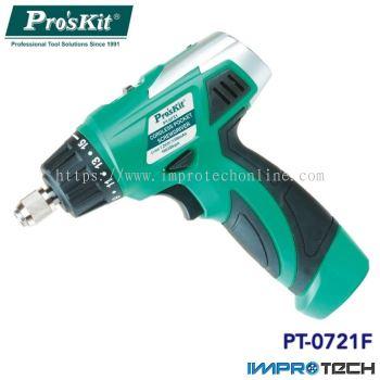 PRO'SKIT [PT-0721F] Cordless Pocket Screwdriver 7.2V (230V AC 50Hz)