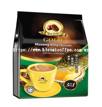 HICOMI GOLD MUSANG KING DURIAN IPOH WHITE COFFEE 3 IN 1