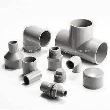 PVC Pipe Fittings (Grey)