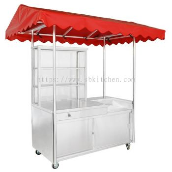 Stainless Steel Burger Stall with Canopy