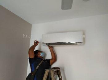 Reassemble and reinstall of air conditioning unit
