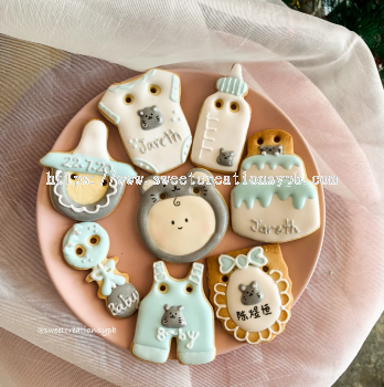 Little Mouse Theme (boy) - Royal Icing Cookies