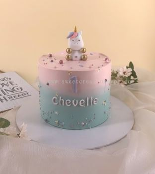 Baby Unicorn Ombre Fresh Cream Cake