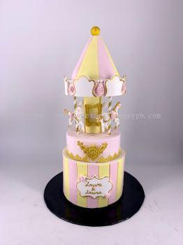 Royal Carousel Fondant Cake