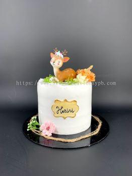 Ins Deer Forest Fresh Cream Cake