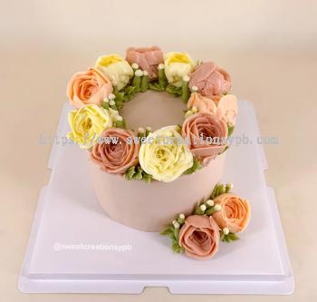 Korean Ins Floral - Buttercream Cake