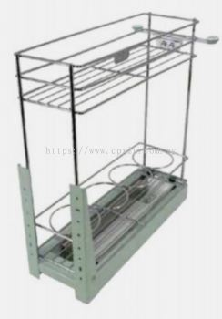 TWO LAYERS FUNCTION PULL OUT BASKET