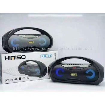 KIMISO KM-S2 Wireless Bluetooth 5.0 Portable Speaker / Super Bass / LED Light / EQ Function