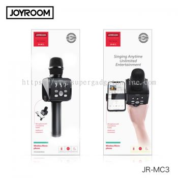 JOYROOM JR-MC3 2in1 Handheld Wireless Bluetooth Dynamic Microphone and Cell Phone Holder for Karaoke Nights and House Parties