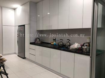 4G Glass Door Kitchen Cabinet @ Bandar Damai Perdana