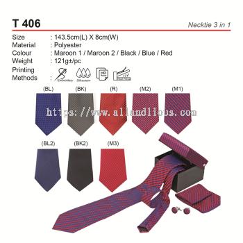 T 406 Necktie 3 in 1