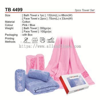 TB 4499 3pcs Bath Towel