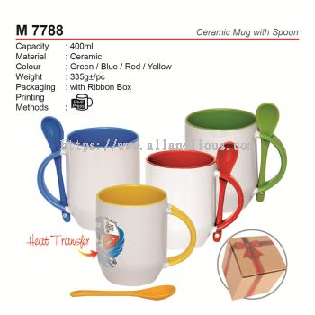 M 7788 Ceramic Mug with Spoon