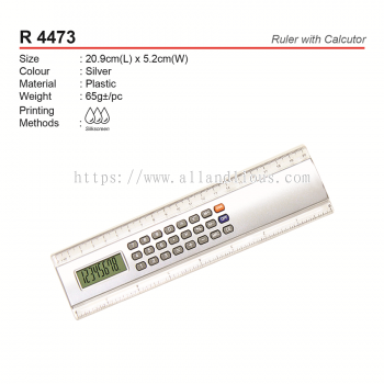 R 4473 Ruler with Calculator