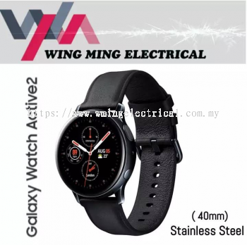 [ Free Shipping ] Samsung Galaxy Watch Active 2 R830 (40mm) Stainless Steel Wifi & Bluetooth Version 1 Years Official Warranty By Samsung Malaysia ( 2019 Years Latest Smart Watch ) - ( SM-R830NSDAXME / SM-R830 )