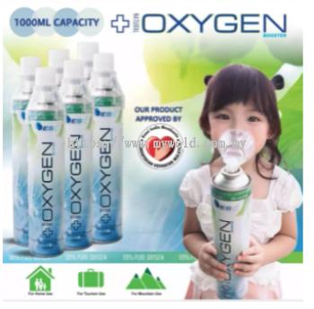 1000ML CAPACITY PORTABLE OXYGEN INHALER ( 1 BOX X 6 BOTTLE )