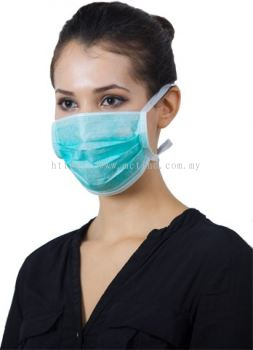 SURGICAL DISPOSABLE TIE-ON FACE MASK