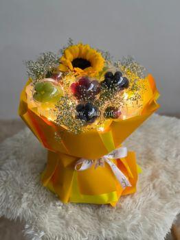 Orange Crystal Ball Sunflower Bouquet