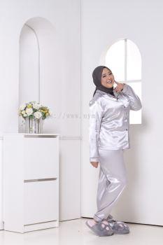 Pyjamas Satin Plain Plus Size and Free Size