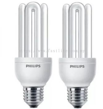 2 x Philips Genie 18w E27 Warm White 220-240V Energy Saving lamps