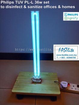 Philips UV-C Germicidal TUV PL-L 36W c/w e Ballast, SIRIM Plug Top & Wiring (To Sanitize & Kill Germs & Virus)