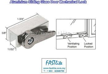 Sliding Aluminium Glass Door Stopper/Lock (on sliding DIN Rail)