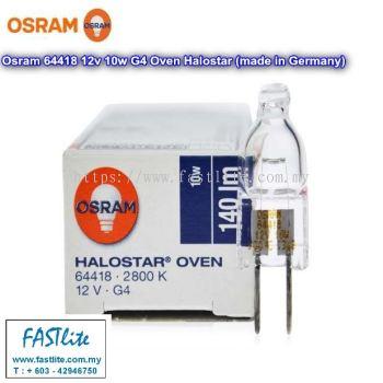 Osram 64418 12v 10w G4 300C Oven bulb (made in Germany)