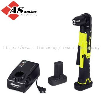 "SNAP-ON 14.4 V 3/8"" Drive MicroLithium Cordless Right Angle Drill Kit (Hi-Viz) / Model: CDRR761HVK2"