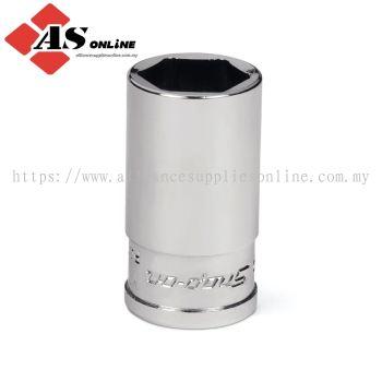"SNAP-ON 1/4"" Drive 6-Point SAE 9/16"" Flank Drive Xtra Semi-Deep Socket / Model: YTMS18"