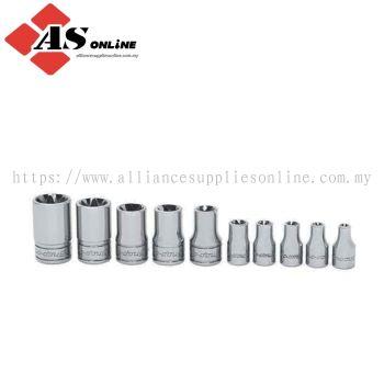 SNAP-ON 10 pc Combination Drive TORX Shallow Socket Set (E4-E18) / Model: 210AFLEY